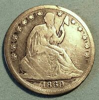 1869 SEATED HALF DOLLAR  DATE