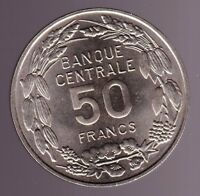 1960 CAMEROON 50 FRANKS COMMEMORATIVE FOREIGN COIN UNC