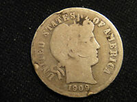 1909 P  CIRCULATED BARBER SILVER DIME