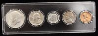 1964 SILVER BIRTH YEAR SET - 5 COINS OTHER YEARS AVAILABLE