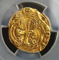 1737? COLOMBIA PHILIP V OF SPAIN. GOLD 2 ESCUDOS COB COIN.  PCGS XF 45