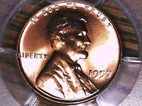 1957 P LINCOLN WHEAT CENT PCGS MS 64 RD 30826267