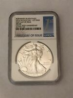 2016 W AMERICAN SILVER EAGLE NGC69 FIRST DAY ISSUE