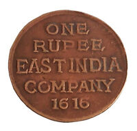 1616 ONE RUPEE EAST INDIA COMPANY  ORIGNAL COIN JAI MAA KAMAKSHI