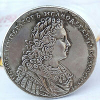 ANTIQUE 1741 IMPERIAL RUSSIAN ANNA IRUSSIA SILVER COIN NEW
