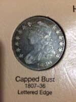 1830 CAPPED BUST HALF DOLLAR   EARLY 90 SILVER COIN