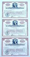 LOT OF 3 1955 & 1960 STOCK CERTIFICATES NEW YORK CENTRAL RAILROAD COMPANY