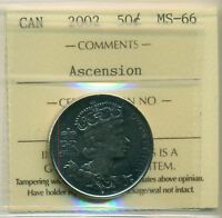 2002 CANADA 50 CENT ICCS MINT STATE 66 ASCENSION
