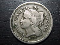 1868 3 CENT NICKEL PIECE     MAKE US AN OFFER  O9005