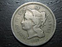 1868 3 CENT NICKEL PIECE     MAKE US AN OFFER  O9004