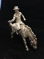 STERLING SILVER COWBOY ON HIS HORSE .925 1970'S