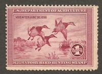DUCK STAMP RW2 UNSIGNED 1936 NG H