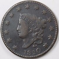 1820 N 9 LARGE DATE CORONET HEAD LARGE CENT 1C