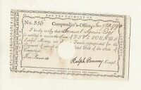 SQUIRE  FAMILY HEIRLOOM AND CONNECTICUT COLONIAL NOTE 1790