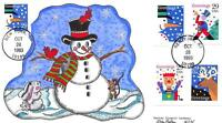 2803 29C SMILING SNOWMAN BOOKLET SINGLE JAMES PASLAY HAND PAINTED [E207594]