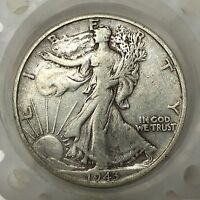 1943-D SILVER WALKING LIBERTY HALF DOLLAR  OLD US COIN A2943