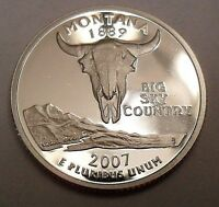 2007 S MONTANA  90 SILVER PROOF  STATE QUARTER
