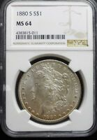 1880 S  MORGAN DOLLAR NGC MS64