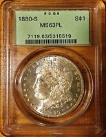 1880 S MORGAN DOLLAR PCGS MS63PL FROM THE OGH DAYS REGRADE TIME?