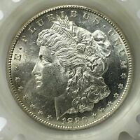 1880 S MORGAN SILVER DOLLAR BEUTY FROM ROLL FROSTY SATIN LUSTER A2974
