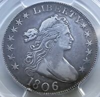 1806 DRAPED BUST HALF DOLLAR PCGS VF35 KNOB 6 SMALL STARS