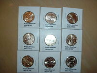 NATIVE AMERICAN 2009 TO 2017 TOTAL OF 9 COINS
