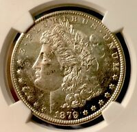1879-S NGC MINT STATE 63. MORGAN SILVER DOLLAR