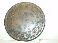 1891 CANADA LARGE CENT,LLLD CIRCULATED