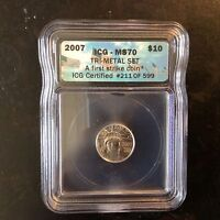 2007 MS 70 $10 PLATINUM AMERICAN EAGLE 1/10 OUNCE 5/31 B 1