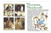 SCOTT  2840  NORMAN ROCKWELL MINI SHEET OF  4 50 CENT STAMPS  MNH