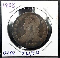 1808 50C OVERTON 102 CAPPED BUST SILVER HALF DOLLAR COIN