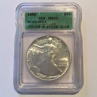 1986 SILVER EAGLE $1 FIRST YEAR GREAT EXAMPLE TO FILL COLLECTION  2