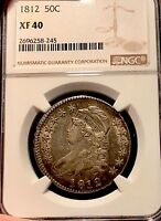 1812 50C NGC XF40 CAPPED BUST HALF DOLLAR
