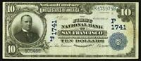 SAN FRANCISCO CA   $10 1902 DATE BACK FR. 619 THE FIRST NB CH.  P1741