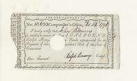 WILLIAMS  FAMILY HEIRLOOM 1791 ONE POUND NOTE