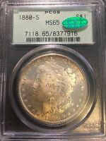 1880 S PCGS MS65 CAC OGH MORGAN SILVER DOLLAR