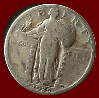 1925 P STANDING LIBERTY 90 SILVER QUARTER SHIPS FREE. BUY 5 FOR $2 OFF