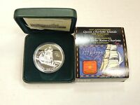 CANADA 1 DOLLAR 1999 PROOF. 1774 1999. SHIP. BOAT. .925 SILVER IN CASE.