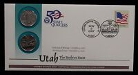 2007 UTAH FIRST DAY COVER UNSEALED PD US MINT STATE QUARTER