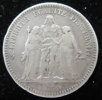1849BB FRANCE 5 FRANCS SILVER WORLD CROWN COIN
