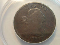 1797  LARGE CENT ANACS GRADED FINE S 126 F 12