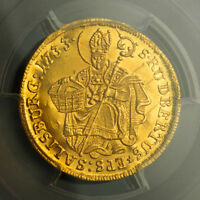 Click now to see the BUY IT NOW Price! 1733 SALZBURG LEOPOLD ANTON ELEUTHERIUS. BEAUTIFUL GOLD DUCAT COIN. PCGS UNC