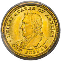 1905 G$1 LEWIS AND CLARK GOLD COMMEMORATIVE PCGS MINT STATE 64 CAC
