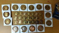 35 PROOF COINS. PRESIDENTIAL PROOF DOLLAR COINS. SUSAN B ANTHONY PROOF DOLLARS