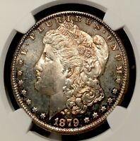 1879-S NGC MINT STATE 64 MORGAN SILVER DOLLAR TONED