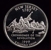 1999 S STATE QUARTER NEW JERSEY DEEP CAMEO PROOF UNCIRCULATED 90 SILVER COIN