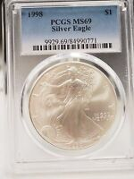 1998 SILVER EAGLE S$1 DOLLAR PCGS MINT STATE 69 $1  0771