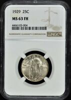 1929 STANDING LIBERTY QUARTER 25C NGC MS63FH
