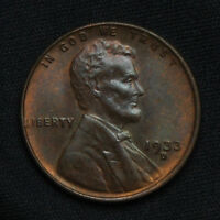 1933 D LINCOLN CENT    ORIGINAL RED BROWN UNCIRCULATED MINT STATE