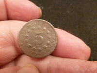 1867 WITHOUT RAYS SHIELD NICKEL DUG POST CIVIL  RELIC